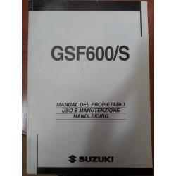 MANUAL DEL PROPIETARIO GSF 600S