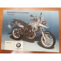 MANUAL DEL PROPIETARIO F 650 GS