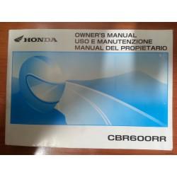 MANUAL DEL PROPIETARIO CBR 600 RR