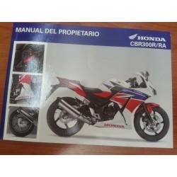 MANUAL USUARIO HONDA CBR 300R/RA